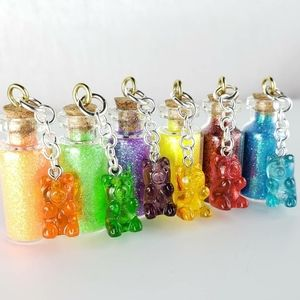 Gummy Bear Glitter Pixie Bottle Necklaces